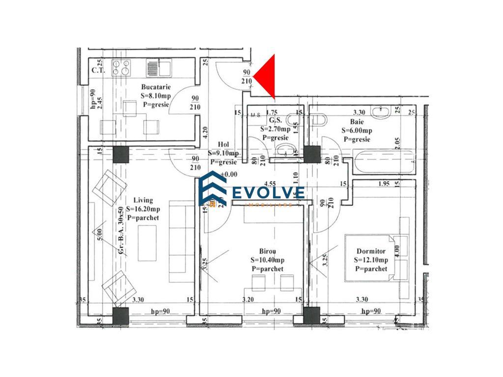 Apartament 3 camere decomandat, bloc nou, capat CUG  Expo Mobila