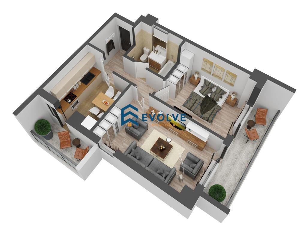 Apartament 2 camere Tip 6