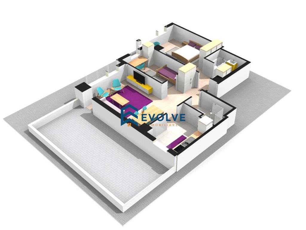 Apartament 3 camere 101 mp