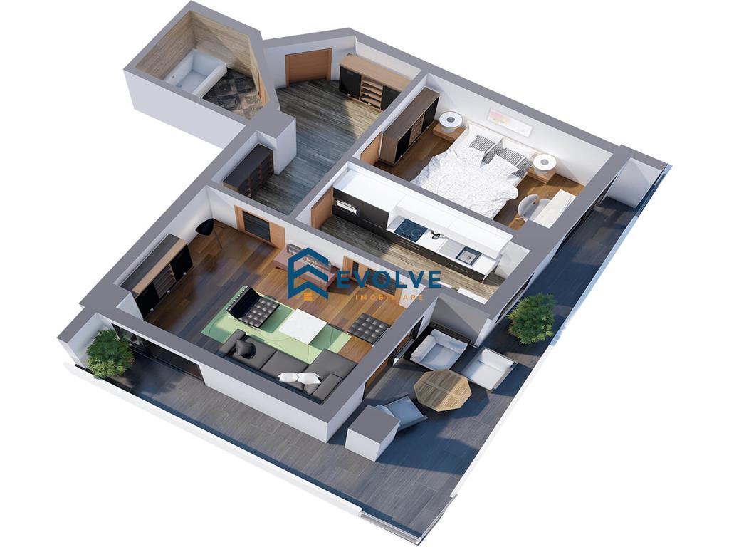 Apartament 2 camere, decomandat, Tatarasi
