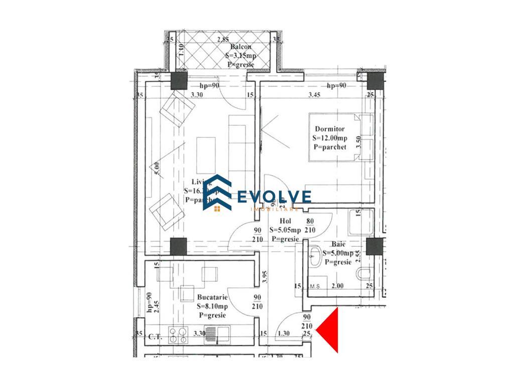 Apartament 2 camere, Capat CUG  posibilitate rate la dezvoltator