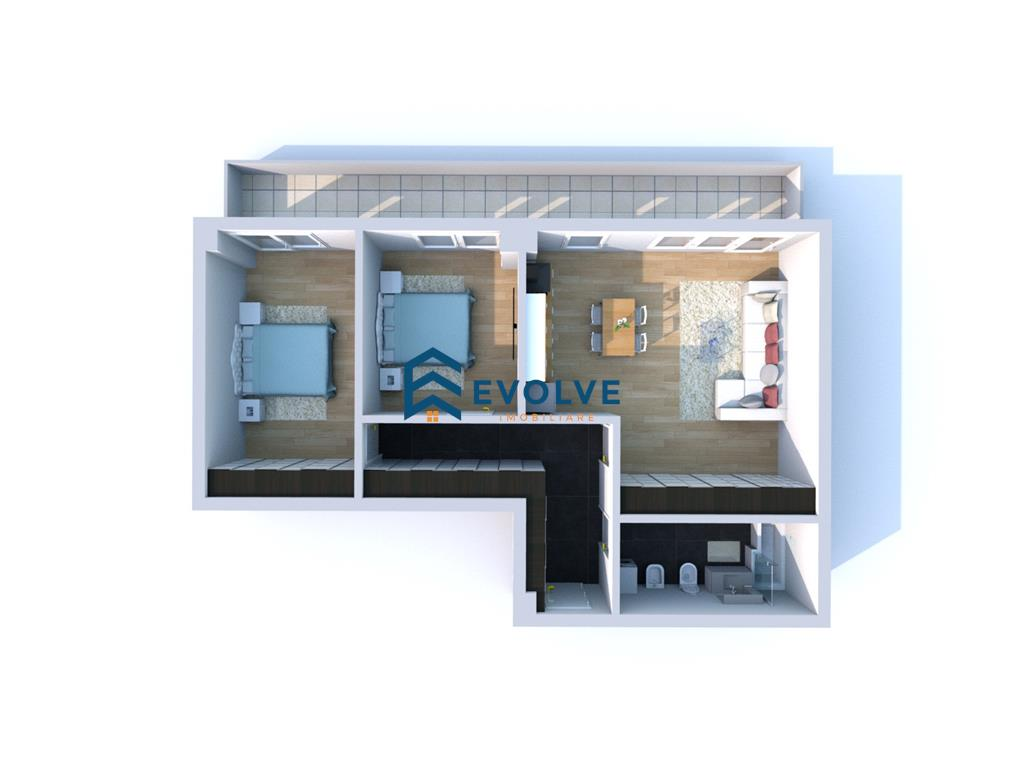 Ap. 3 camere, finisaje premium, Copou  Complex Nou