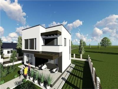 Vila cu arhiectura moderna, Breazu, 500 mp teren